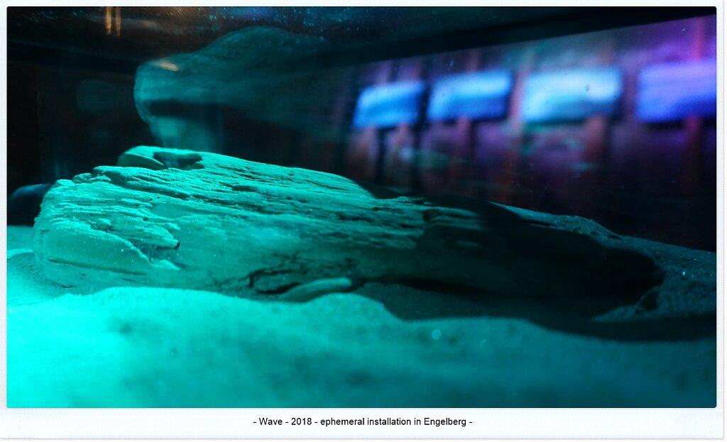 Wave . contemporary art installation